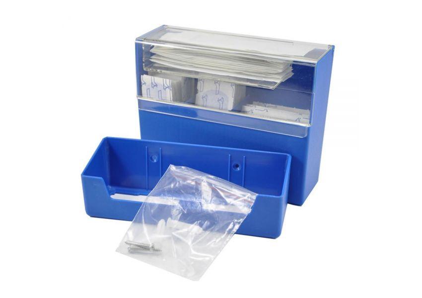 Krabička na náplaste, modrá, detekovateľná + 100 ks náplastí