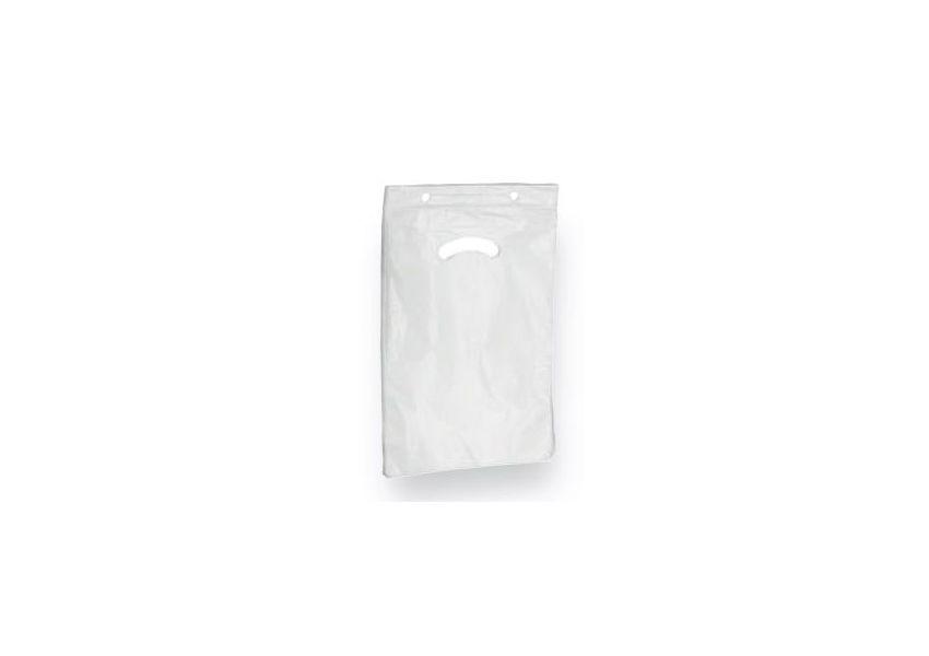 HDPE nákupná taška, biela, bal. 2500 ks