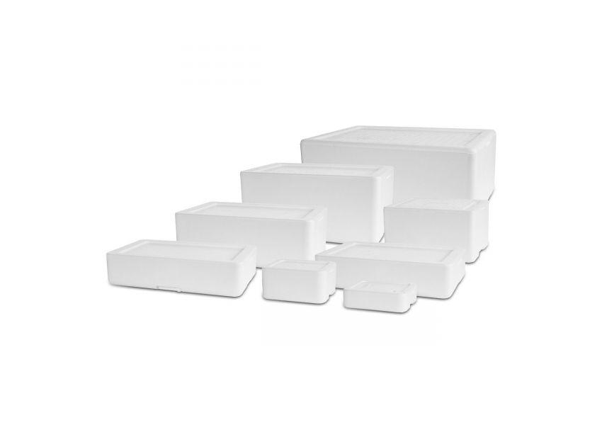 Polystyrénové izolačné boxy, biele