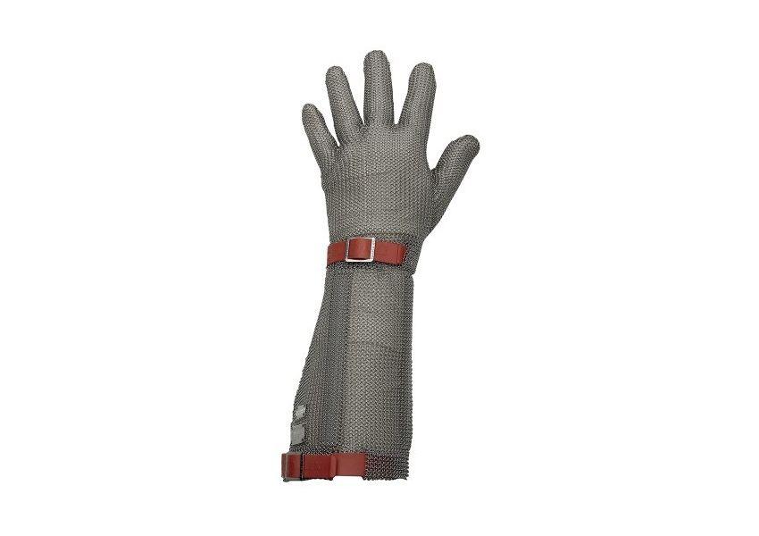 Kovová pletená rukavica EUROFLEX, manžeta 19 cm